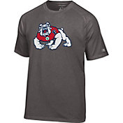 Champion Men's Fresno State Bulldogs Grey Big Logo T-Shirt
