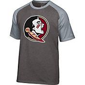Champion Men's Florida State Seminoles Grey Big Logo T-Shirt