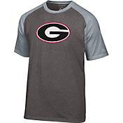 Champion Men's Georgia Bulldogs Grey Big Logo T-Shirt