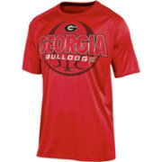 Champion Men's Georgia Bulldogs Red High Impact Basketball T-Shirt