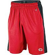 Champion Men's Georgia Bulldogs Red Third Down Shorts