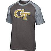 Champion Men's Georgia Tech Yellow Jackets Grey Big Logo T-Shirt