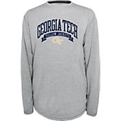 Champion Georgia Tech Yellow Jackets Grey Pursuit Long Sleeve Shirt