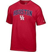 Champion Men's Houston Cougars Red Word Logo T-Shirt