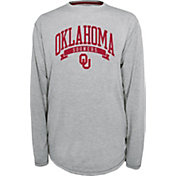 Champion Oklahoma Sooners Grey Pursuit Long Sleeve Shirt