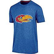 Champion Men's Kansas Jayhawks blue Touchback T-Shirt