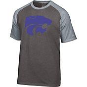 Champion Men's Kansas State Wildcats Grey Big Logo T-Shirt