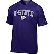 Champion Men's Kansas State Wildcats Purple Word Logo T-Shirt