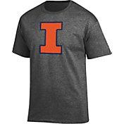 Champion Men's Illinois Fighting Illini Grey Big Soft T-Shirt