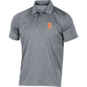 Champion Men's Illinois Fighting Illini Grey Classic Polo