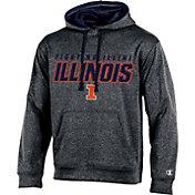 Champion Men's Illinois Fighting Illini Grey T-Formation Hoodie