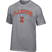 Champion Men's Illinois Fighting Illini Grey T-Shirt
