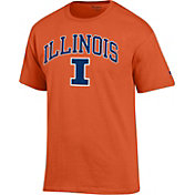 Champion Men's Illinois Fighting Illini Orange Big Soft T-Shirt