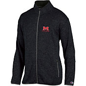 Champion Men's Ole Miss Rebels Grey Playbook Full-Zip Jacket