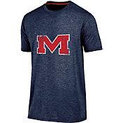 Champion Men's Ole Miss Rebels Blue Touchback T-Shirt