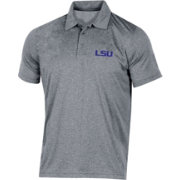 Champion Men's LSU Tigers Grey Classic Polo
