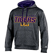 Champion Men's LSU Tigers Grey T-Formation Hoodie