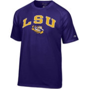 Champion Men's LSU Tigers Purple Word Logo T-Shirt