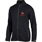 Champion Men's Louisville Cardinals Grey Playbook Full-Zip Jacket