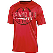 Champion Men's Louisville Cardinals Cardinal Red Impact Basketball T-Shirt