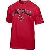 Champion Men's Louisville Cardinals Cardinal Red Word Logo T-Shirt