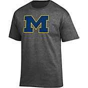 Champion Men's Michigan Wolverines Grey Big Soft T-Shirt