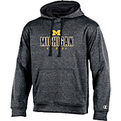 Champion Men's Michigan Wolverines Grey T-Formation Hoodie
