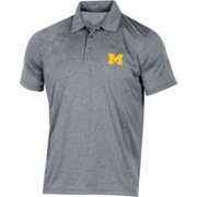 Champion Men's Michigan Wolverines Grey Classic Polo