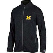 Champion Men's Michigan Wolverines Grey Playbook Full-Zip Jacket