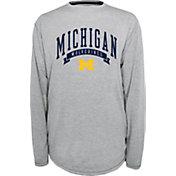 Champion Michigan Wolverines Grey Pursuit Long Sleeve Shirt