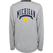 Champion Michigan Wolverines Grey Pursuit Long Sleeve Shirt