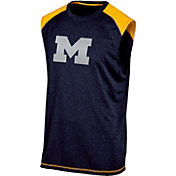 Champion Men's Michigan Wolverines Blue Muscle Tee