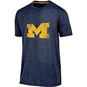 Champion Men's Michigan Wolverines Blue Touchback T-Shirt