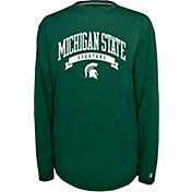 Champion Michigan State Spartans Green Pursuit Long Sleeve Shirt