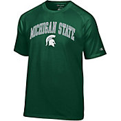 Champion Men's Michigan State Spartans Green Word Logo T-Shirt