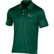 Champion Men's Miami Hurricanes Green Classic Polo