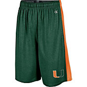 Champion Men's Miami Hurricanes Green Training Shorts