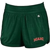 Champion Women's Miami Hurricanes Green Endurance Shorts
