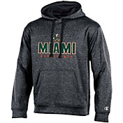 Champion Men's Miami Hurricanes Grey Double Possession Pullover Hoodie