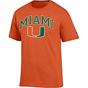 Champion Men's Miami Hurricanes Orange Big Soft T-Shirt