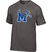 Champion Men's Memphis Tigers Grey Big Logo T-Shirt