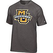 Champion Men's Marquette Golden Eagles Grey Big Logo T-Shirt