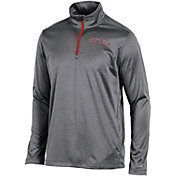 Champion Men's Maryland Terrapins Grey Knit Mesh Quarter-Zip Shirt