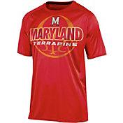 Champion Men's Maryland Terrapins Red Impact Basketball T-Shirt