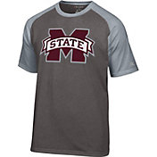 Champion Men's Mississippi State Bulldogs Grey Big Logo T-Shirt