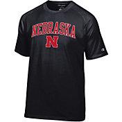 Champion Men's Nebraska Cornhuskers Black Word Logo T-Shirt