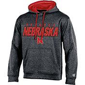 Champion Men's Nebraska Cornhuskers Grey T-Formation Hoodie