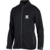 Champion Men's Nebraska Cornhuskers Grey Playbook Full-Zip Jacket