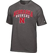 Champion Men's Nebraska Cornhuskers Grey T-Shirt