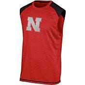 Champion Men's Nebraska Cornhuskers Red Muscle Tee